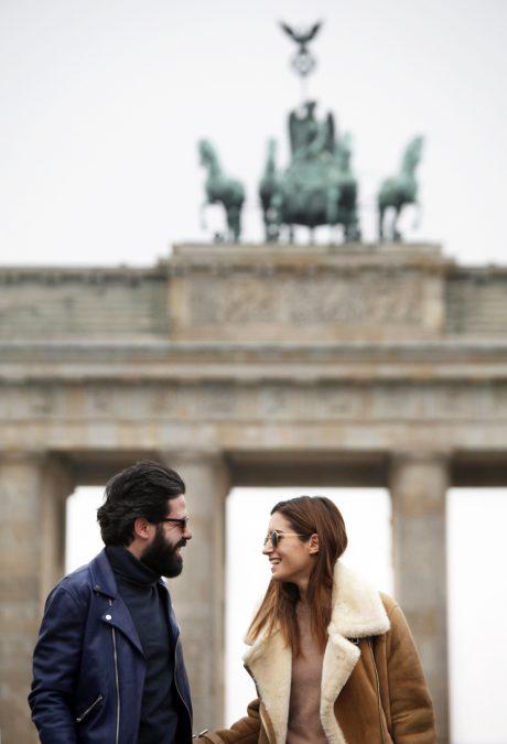 Gala Gonzalez & Miguel Carrizo, Brandenburgen Tor – Berlin (22/01/15)