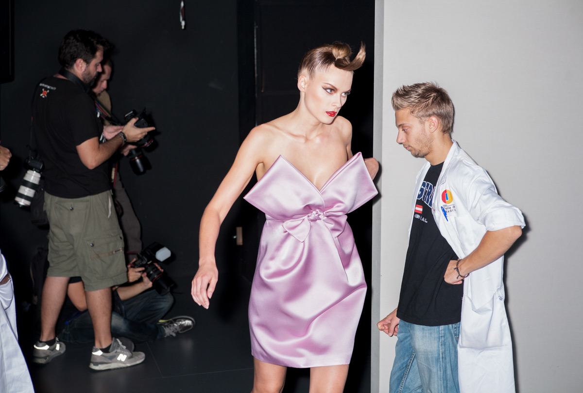 Backstage MBFWM. © Alex Rivera